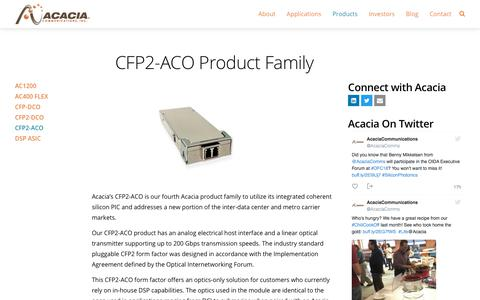 CFP2-ACO Product Family - Acacia Communications