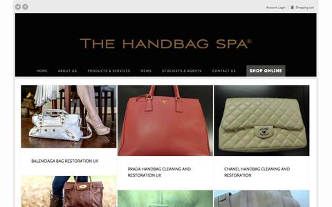 Screenshot of Press Page thehandbagspa.com - The Handbag Spa News | - captured Nov. 3, 2014