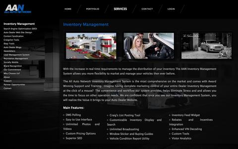 Screenshot of Services Page allautonetwork.com - Auto Dealer Inventory Management  | Car Dealer Inventory Management | Auto Inventory Software - captured Sept. 25, 2014