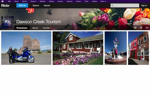 Screenshot of Flickr Page flickr.com - Flickr: Dawson Creek Tourism's Photostream - captured Oct. 25, 2014