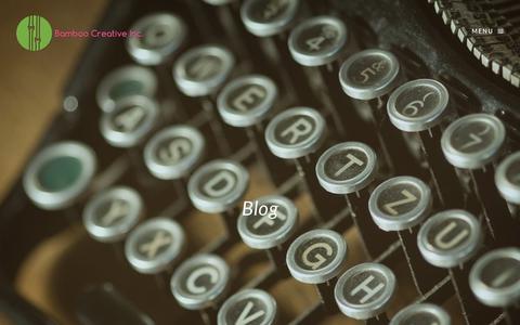 Screenshot of Blog bamboocreativeinc.com - Blog | Bamboo Creative - captured May 31, 2017