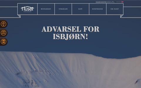 Screenshot of Home Page huset.com - Start - Huset - captured Oct. 1, 2014