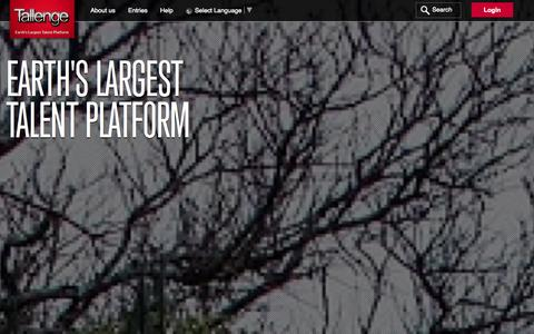 Screenshot of About Page tallenge.com - About Tallenge  Earth's Largest Talent Platform - captured Oct. 30, 2014