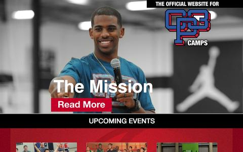 Screenshot of Home Page cp3camps.com - CP3 Camps - captured Sept. 25, 2015
