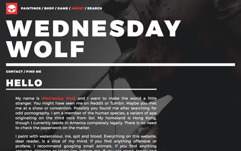 Screenshot of About Page wednesdaywolf.com - Wednesday Wolf - captured Nov. 7, 2017