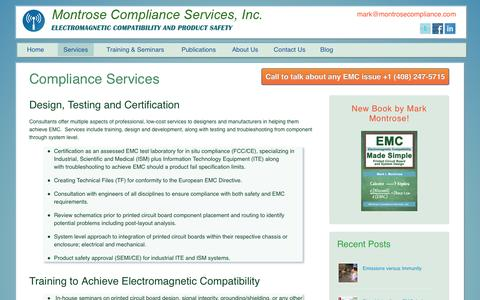Screenshot of Services Page montrosecompliance.com - EMC Compliance Services - Montrose Compliance Services - captured Nov. 3, 2014