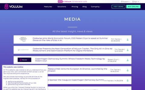 Screenshot of Press Page voluum.com - Media - Voluum - captured Sept. 19, 2018