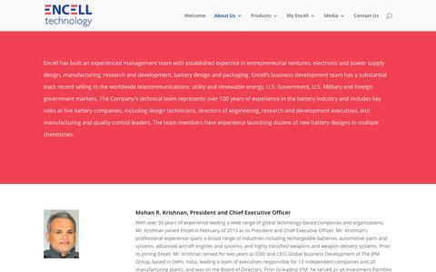 Screenshot of Team Page encell.com - Management Team | Encell Technology - captured Nov. 8, 2016