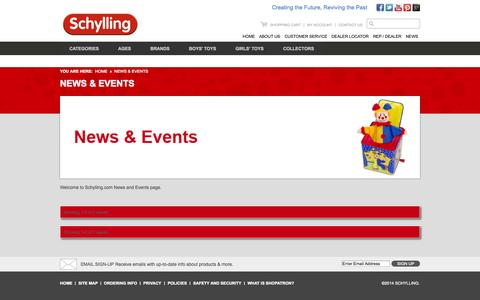Screenshot of Press Page schylling.com - I am the meta title for the test news listing  Schylling - captured Sept. 24, 2014
