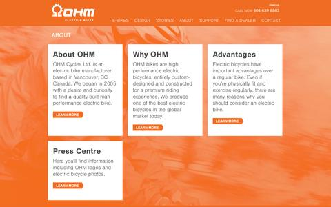 Screenshot of About Page ohmcycles.com - About Us | OHM Cycles - captured Oct. 7, 2014
