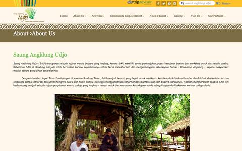 Screenshot of About Page angklung-udjo.co.id - About - WIT. Commerce - captured Oct. 6, 2017