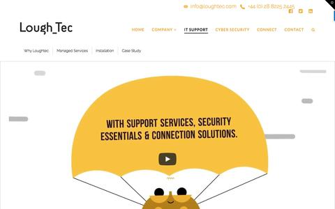 Screenshot of Support Page loughtec.com - Managed & Outsourced IT solutions for businesses in N. Ireland & UK | Loughtec IT Solutions - captured Sept. 24, 2018