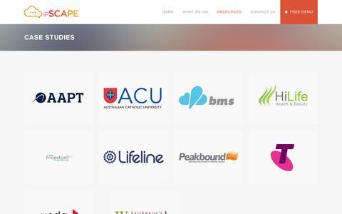 Screenshot of Case Studies Page ipscape.com.au - ipSCAPE |   Case Studies - captured Dec. 21, 2015