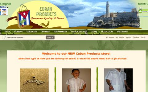 Screenshot of Home Page FAQ Page cubanproducts.com - Welcome to the Best Online Market for Cuban Products! - captured June 30, 2018