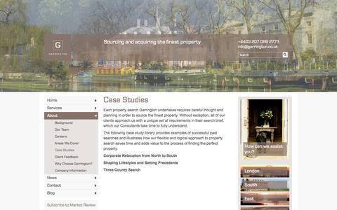 Screenshot of Case Studies Page garrington.co.uk - Garrington - Garrington Country - Case Studies - captured Oct. 2, 2014