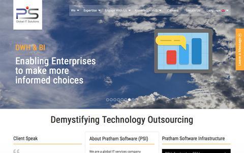 Screenshot of Home Page thepsi.com - Offshore Software Development Company | Software Developers | Pratham Software (PSI) - captured June 26, 2017