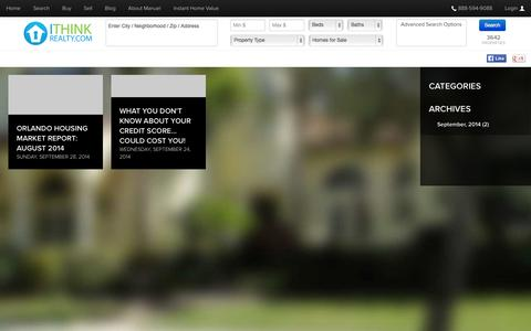 Screenshot of Blog ithinkrealty.com - I Think Realty - Blogs - captured Nov. 3, 2014