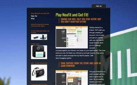 Screenshot of About Page neufit.com - Play NeuFit and Get Fit! | Neufit - captured Sept. 16, 2014