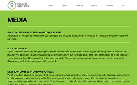 Screenshot of Press Page powerreviews.com - Advertising Opportunities   PowerReviews - captured Oct. 29, 2014