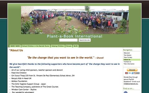 Screenshot of About Page google.com - *About Us - Plant-a-Book International - captured June 12, 2016