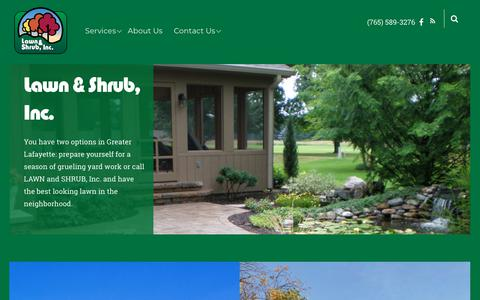 Screenshot of Home Page lawnandshrub.com - Lawn and Shrub Inc. – LAWN and SHRUB INC. - captured Sept. 27, 2018