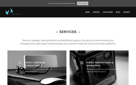 Screenshot of Services Page twofreshproductions.com - Services Archive | Two Fresh - captured Aug. 16, 2016