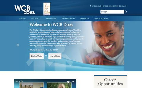 Screenshot of Jobs Page wcb.mb.ca - Welcome to WCB Does | Workers Compensation Board of Manitoba - captured Oct. 19, 2017