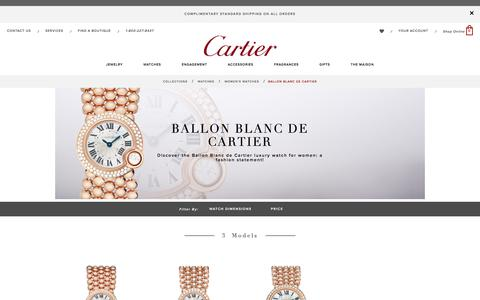 Ballon Blanc women's watch: diamond, pink gold - Cartier