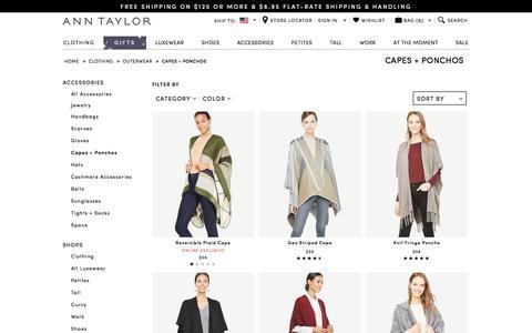 Capes + Ponchos : ANN TAYLOR