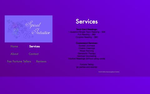 Screenshot of Services Page spiralintuitive.com - Gallery - captured Oct. 7, 2014
