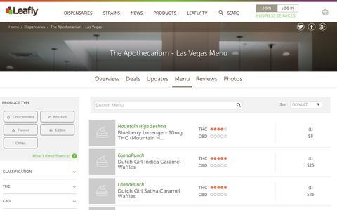 The Apothecarium - Las Vegas Menu   Leafly