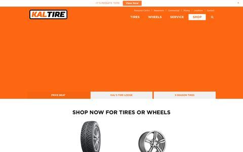 Screenshot of Home Page kaltire.com - Kaltire - Tires, Custom Wheels, Batteries and Full Mechanical Service - captured Jan. 9, 2016