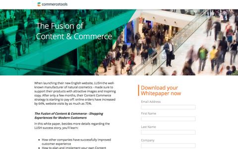 Screenshot of Landing Page commercetools.com - commercetools | Content and Commerce - Free Whitepaper - captured Feb. 6, 2017