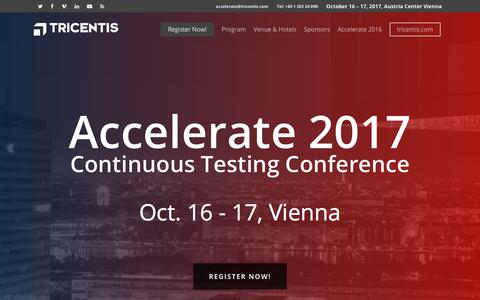 Tricentis Accelerate the Software Testing Conference