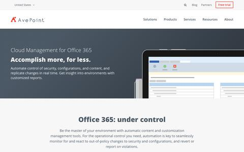 Screenshot of Team Page avepoint.com - Cloud Management Built For Office 365 | AvePoint - captured July 9, 2018