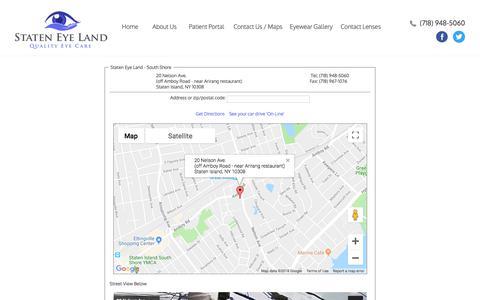 Screenshot of Maps & Directions Page stateneyeland.com - Maps - captured Sept. 21, 2018