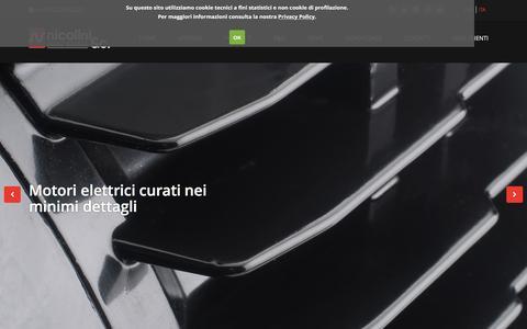 Screenshot of Home Page nicolinimotori.it - Nicolini & C - Motori elettrici - captured Jan. 22, 2016