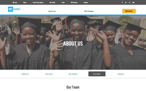 Screenshot of Team Page wecharity.org - Our Team - WE Charity - captured Nov. 22, 2018