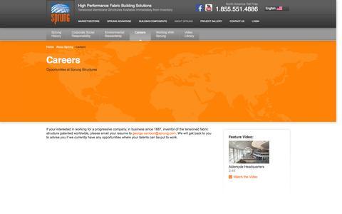Screenshot of Jobs Page sprung.com - Careers - captured Oct. 9, 2014