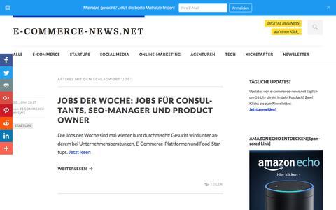 Screenshot of Jobs Page e-commerce-news.net - Job Archives - E-COMMERCE-NEWS.NET - captured July 2, 2017