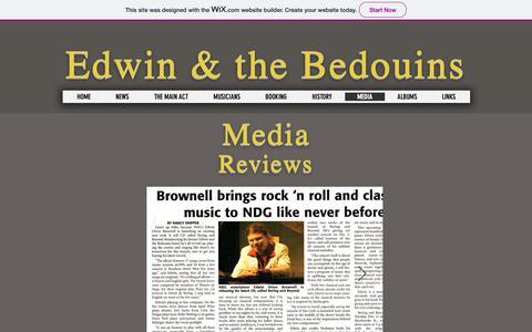 Screenshot of Press Page edbedweb.com - Edwinandthebedouins | MEDIA - captured Nov. 29, 2018