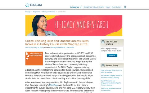 Screenshot of Case Studies Page cengage.com - Case Studies Archives - Page 3 of 4 - Cengage Blog - captured Aug. 4, 2017