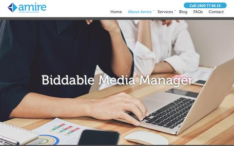 Screenshot of Jobs Page amire.com.au - Biddable Media Manager - Job Opportunity - Amire - captured March 22, 2018