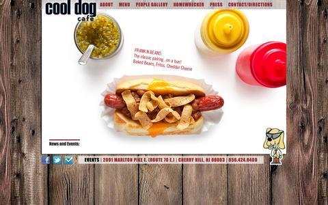 Screenshot of Home Page thecooldogcafe.com - Cool Dog Cafe - Home - captured Sept. 16, 2015