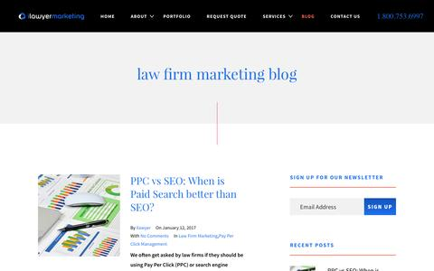 Blog - Internet Marketing for Lawyers