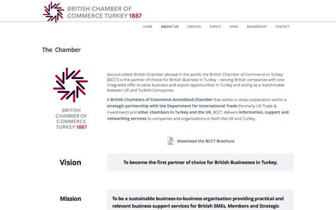 Screenshot of About Page bcct.org.tr - The Chamber Â« British Chamber of Commerce Turkey - captured Nov. 30, 2016