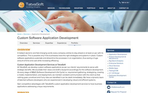 Screenshot of Services Page tatvasoft.com - Custom Application Development And Software Development | TatvaSoft - captured Nov. 24, 2016
