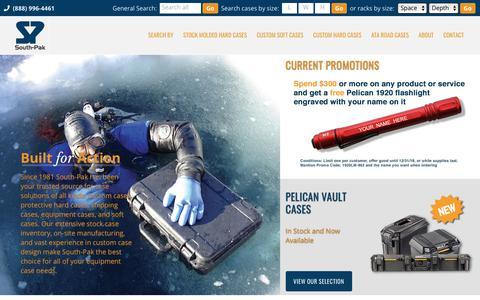 Screenshot of Home Page south-pak.com - Professional Protective Cases | Hard & Soft Cases | South-Pak : South-Pak, Inc. - captured Nov. 18, 2018