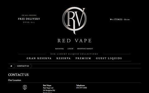 Screenshot of Contact Page redvape.com - Contact Us | Red Vape.com - captured Dec. 12, 2016