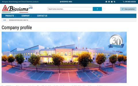 Screenshot of About Page biosigma.com - Biosigma Biotecnologies: About Us - captured Oct. 6, 2018